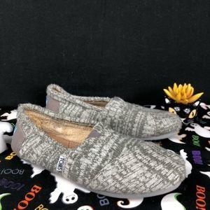 Toms Wool Fur Shearling Gray Sz.7.5